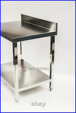 Full Stainless Steel Commercial Catering Table Work Bench Kitchen 900mm X 600mm