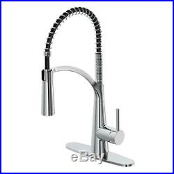 Glacier Bay Kitchen Faucet Brenner Commercial-Style Pull Down Sprayer Stainless