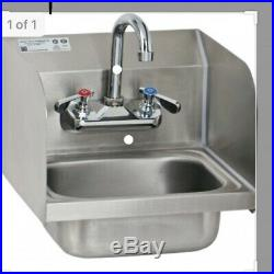 IN BOX Commercial Stainless Steel Hand Wash Washing Wall Mount Sink Kitchen