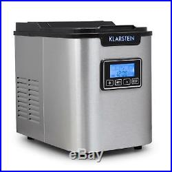 Ice Cube Maker Machine Electric Stainless Steel 12 kg/day Commercial Bar Timer