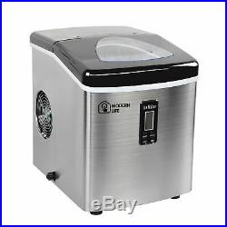 Ice Cube Maker Machine Electric Stainless Steel Commercial Table top 20 kg/day A