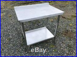 JOB LOT Stainless Steel Commercial Kitchen Bench's