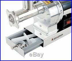 KITCHENER #12 Commercial Electric Stainless Steel Meat Grinder 720lbs/Hr & Tubes
