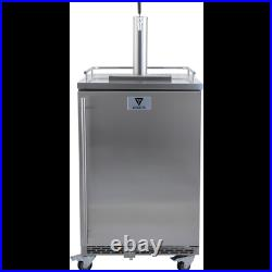 KOMOS Commercial Kegerator with Stainless Steel Intertap Faucets Draft Beer Wine