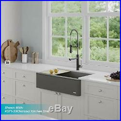 KRAUS Commercial Style Pull-Down Kitchen Faucet Stainless Steel/Matte Black