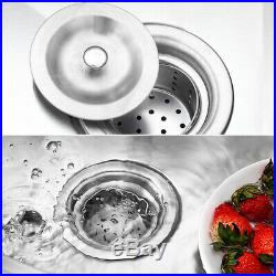 Kitchen 1 Sink Stainless Steel Handmade Sink Deep Bowl with Drain Commercial