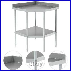 Kitchen Corner Table Stainless Steel Commercial Catering Work Bench