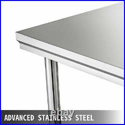 Kitchen Prep WVEVOR Commercial Table Stainless Steel ork Bench Catering Surface