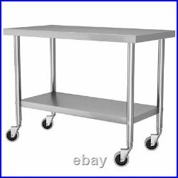 Kitchen Stainless Steel Commercial Catering Table Work Bench Food Prep Worktop