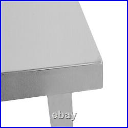 Kitchen Stainless Steel Work Table Bench Commercial Worktop With Wheel 1158060cm
