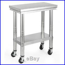 Kitchen Work Table Commercial Catering Bench Utility Adjustable Stainless Steel