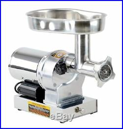 Kitchener #8 Commercial Grade Electric Stainless Steel Meat Grinder 1/2 HP 3