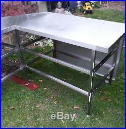 Large Stainless Steel Table Commercial Kitchen Catering Heavy Duty