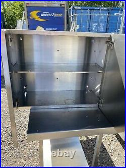 Lincat Stainless Steel Commercial Kitchen Wall Unit With Shelf. 75cm X 60cm