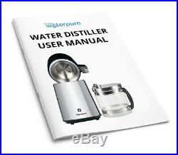 MWP Stainless Steel Water Distiller With Glass Collection Jug