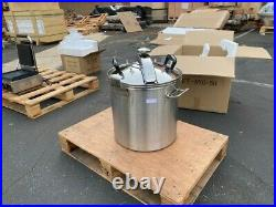 NEW 50 QT Commercial Stainless Steel High Capacity Pressure Cooker Kettle