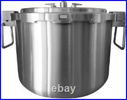 NEW Buffalo Clad Quick Pot Stainless Steel Commercial Pressure Cooker Canner 35L