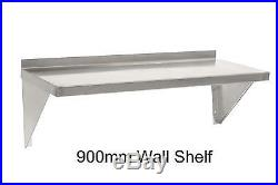 New Commercial Catering Kitchen Stainless Steel Wall Shelf 900mm 90cm