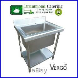New Commercial Stainless Steel Deep Bowl Sink Undershelf Commercial Kitchen 78cm