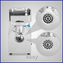 New Electric Meat Mincer Grinder Stainless Steel Commercial 850W 190R/Min