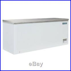 Polar Chest Freezer Stainless Steel Lid 587Ltr 270W White Commercial Kitchen