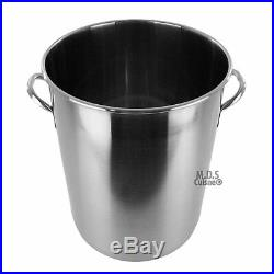 Pot Stainless Steel 53 Quart with Strainer Basket StockPot Commercial Fryer Pot