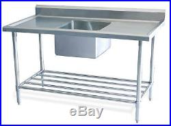 Pro New Stainless Steel Commercial Catering Kitchen Sink unit 1200 w x 600mm d