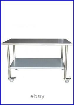 RRP £178 Stainless Steel Commercial Catering Table/Bench/Worktop Food Prep Kitch