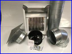 STAINLESS STEEL COMMERCIAL KITCHEN CANOPY EXTRACTOR HOOD 2 Ft COMPLETE KIT