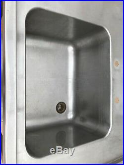 Sink Commercial Catering Kitchen Stainless Steel 145x70x90cm Left Hand Drainer