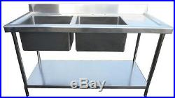 Sink Commercial Catering Kitchen Stainless Steel Sink 1500mm Right Hand Drainer