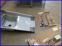 Sink Stainless Steel Commercial Catering Kitchen Single Bowl 1.0 Unit RH A5413
