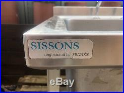Sissons by Franke, double bowl stainless steel Commercial Kitchen sink