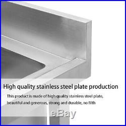 Stainless Steel Catering Commercial Sink with Waste Kitchen Single Double Bowl