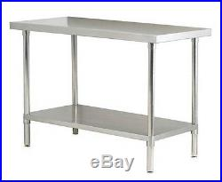 Stainless Steel Centre Prep Tables Commercial Kitchen All Sizes From £119.99