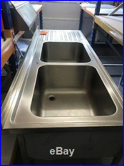 Stainless Steel Commercial Catering Kitchen Sink 1900mm Double Bowl high quality