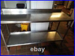 Stainless Steel Commercial Catering Table Work Bench Kitchen