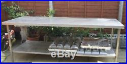 Stainless Steel Commercial Catering Table Work Bench Kitchen 220 X 80 cm