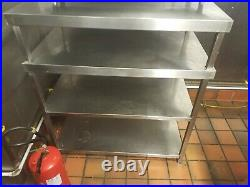 Stainless Steel Commercial Catering Table Work Bench Kitchen-4 Shelve