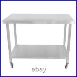 Stainless Steel Commercial Catering Table Work Bench Kitchen Food Prep Worktable