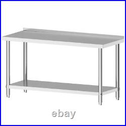 Stainless Steel Commercial Catering Table Work Bench Kitchen Worktop Food Prep