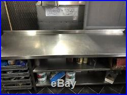 Stainless Steel Commercial Catering Table Work Kitchen 2.10 Centimeter Tall