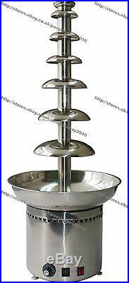 Stainless Steel Commercial Electric 103cm 7-Tier Party Chocolate Fondue Fountain