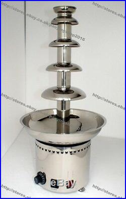 Stainless Steel Commercial Electric 68cm 5-Tier Party Chocolate Fountain Fondue