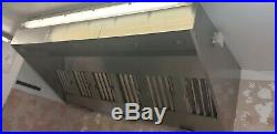 Stainless Steel Commercial Kitchen Canopy Wall Exhaust Hood Extractor System