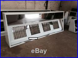 Stainless Steel Commercial Kitchen Canopy/hood 9ft