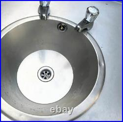Stainless Steel Commercial Kitchen Catering Sink Prep Wash Table with sink