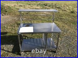 Stainless Steel Commercial Kitchen Prep Bench 1200Lx690Dx1360H