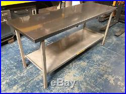 Stainless Steel Commercial Kitchen Prep Table with Shelf 1.8m x 0.6m, 1800 x 600