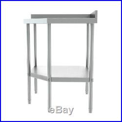 Stainless Steel Commercial Table Vogue Corner Unit Kitchen Workbench 900x800x600